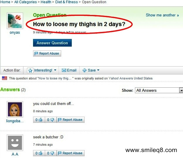 best of yahoo answers funniest
