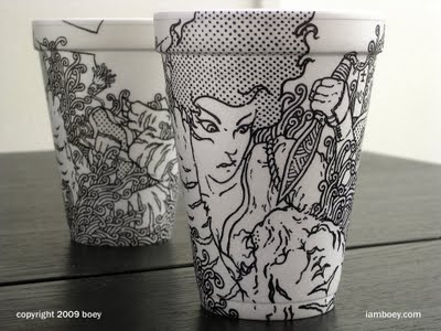 Sharpie Art On Styrofoam Cups Smileq8 Com